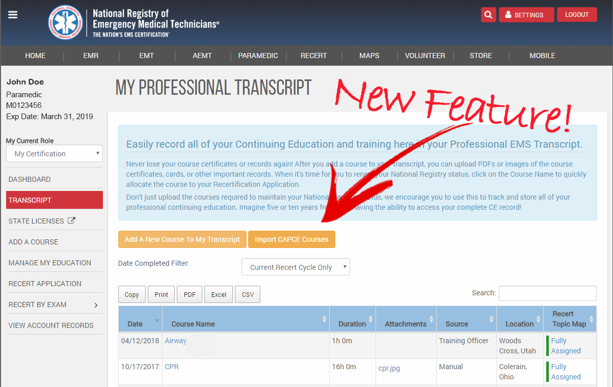 New Web Tool Streamlines Recertification Process For Ems Personnel