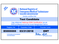 Order a duplicate or replacement NREMT certification card